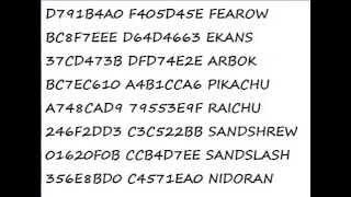 Pokemon Emerald Gameshark Codes (work) | Daikhlo