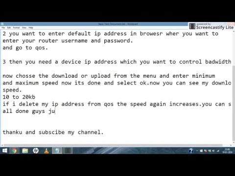 how to control bandwidth of wifi.