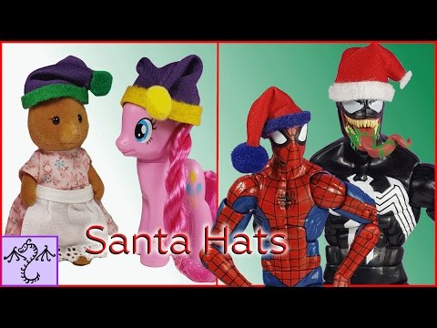 How to Make a Santa Hat for Action Figures & Other Toys, DIY