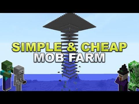 Minecraft - Simple & Cheap Mob Farm - Tutorial 1.12