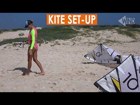 How to Kitesurf: Set-Up (LEI, inflatable kite)