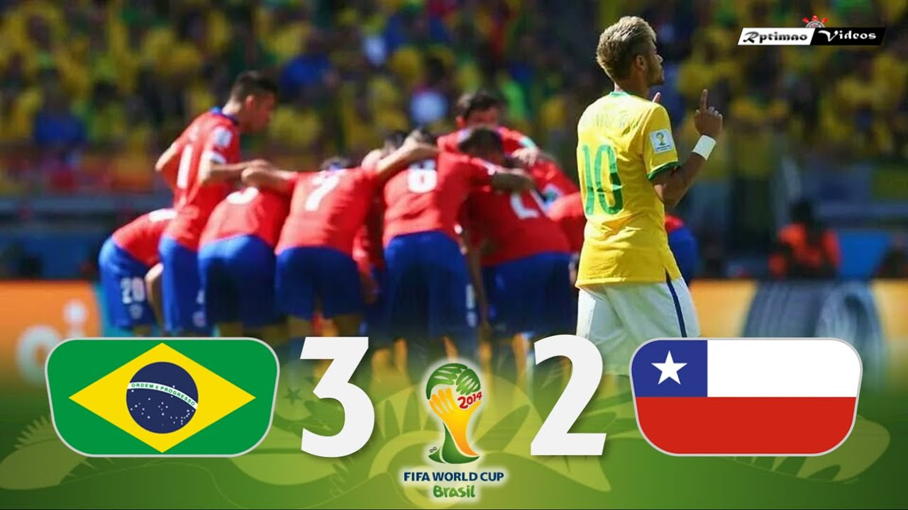 Brasil 1 (3) x (2) 1 Chile ● 2014 World Cup Extended Goals & Highlights + Penalties HD