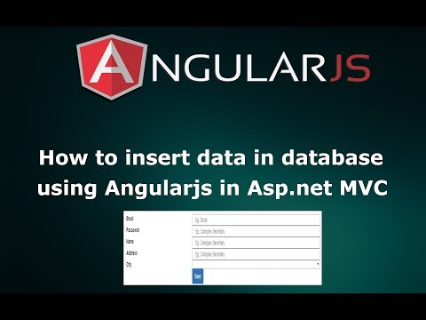 How to Insert Data Into Database Using AngularJS in Asp.net MVC