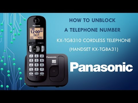 Panasonic KX-TGB310 Telephone -  How to