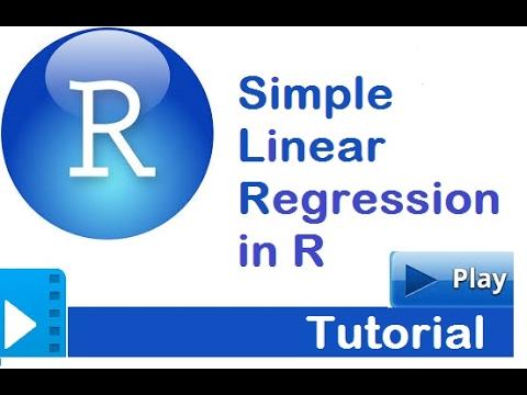 R Tutorial | Simple Linear Regression in R