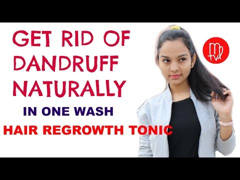 How To Get Rid Of Dandruff & Hairfall Overnight naturally  | Hair Regrowth TONIC | Miss Priya TV |