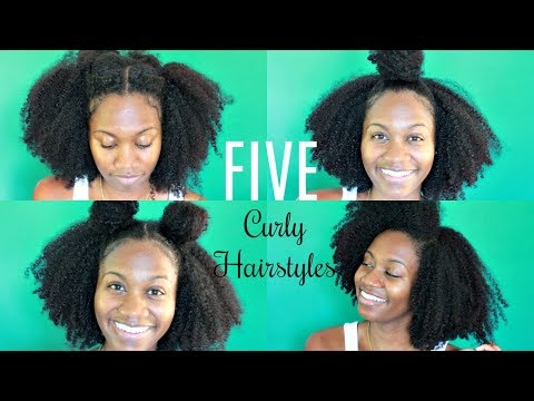 5 SIMPLE HAIRSTYLES FOR AN OLD WASH N GO | NATURAL HAIR