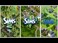 Sims 2 vs Sims 3 vs Sims 4 - Worlds