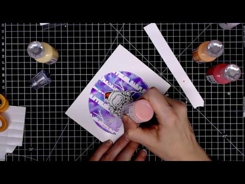 CCWM- MFT yeti & alcohol ink | scan n cut test