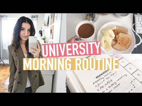 UNIVERSITY MORNING ROUTINE 2018 + HOW I CURL MY HAIR