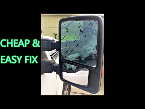 2011 & up SUPER DUTY Mirror glass repaired by replacing the glass only (heated)