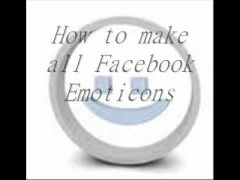 How to do all of the Facebook smileys (Emoticons)