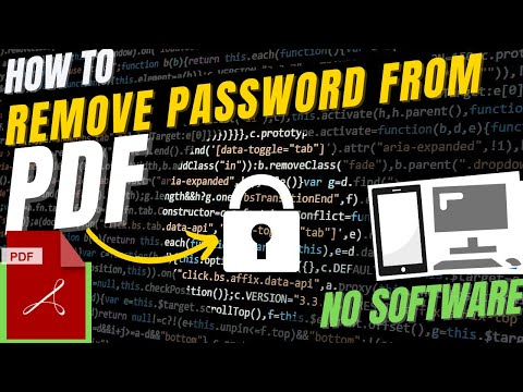 ✓✓✓ How to Remove Password From Protected PDF Files Without any Software