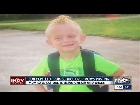 Son expelled from school over mom's Facebook post