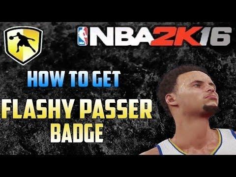 NBA2K16 FLASHY PASSER BADGE IN ONE GAME