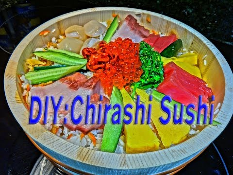 How to homemade mukbang Chirashi Sushi Bowl dinner w/Rice,Hamachi,seaweed salad,salmon,tuna cuisine
