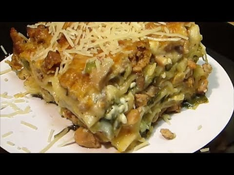 Homemade Lasagna Recipe - Chicken Spinach and Mushroom Lasagna