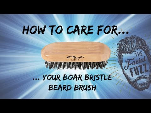 How To Care For Your Beard Brush | Links In Description | One Minute Tutorials