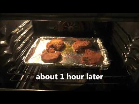 shake & bake porkchops baked potato & green beens