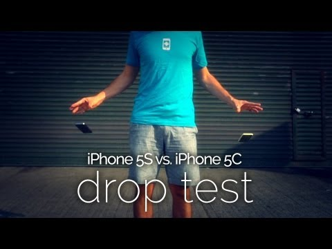 iPhone 5S vs 5C Drop Test in Slow Motion