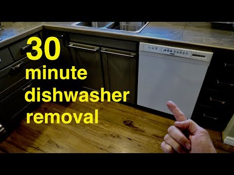 How to  ●  30 Minute Dishwasher Removal  ( not that hard ! )