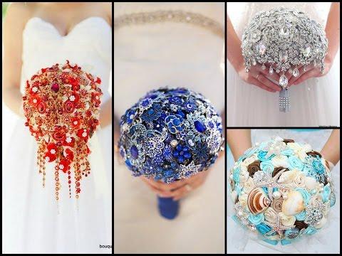 Gorgeous Brooch Bouquet Ideas - Bridal Bouquet Jewelry - Wedding Ideas