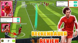 98 RATED ICONIC CB BECKENBAUER REVIEW | BEST CB IN PES20??? PLAYER REVIEW #2 | A R N PLAY