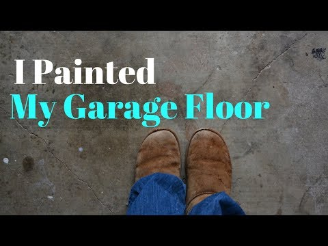 I Painted My Garage Floor: Garage Makeover Series - Thrift Diving