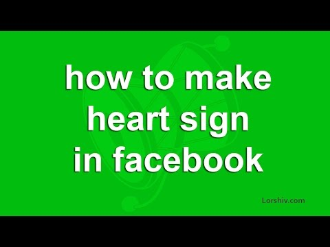 how to make heart sign in facebook