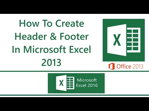 How To Add Headers And Footers In Excel 2013