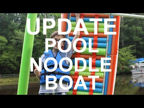 Pool Noodle Boat - FUN at the Lake PART 2