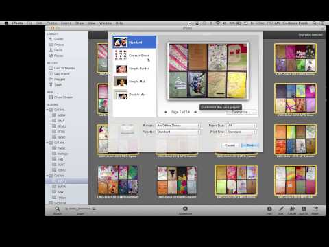 How to Print a Contact Sheet within iPhoto