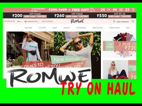 ROMWE TRY ON HAUL   ONLINE SHOPPING   AFFORDABLE   Angels reborn
