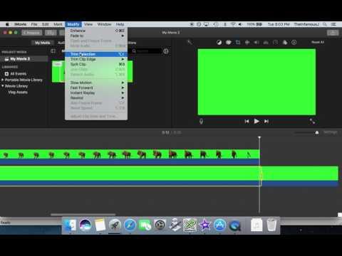 [iMovie] Green Screen Silhouette Tutorial