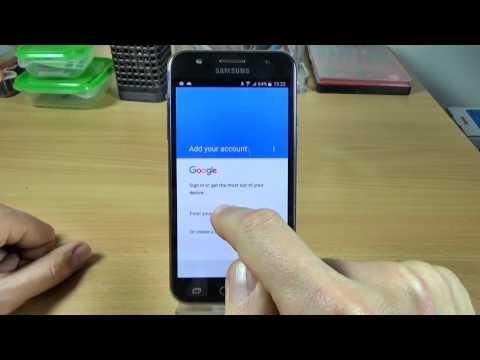 Samsung Galaxy J5 J500F - How to add an Google account