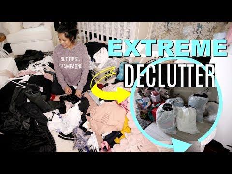 EXTREME Konmari Method Decluttering! Declutter My Makeup, Clothes & More! - MissLizHeart