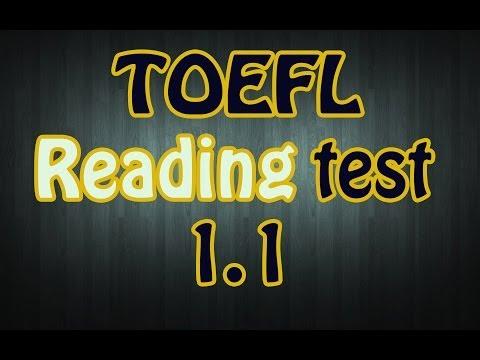 TOEFL Reading Test 1.1