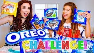 OREO CHALLENGE   SOPHIA GRACE & JESSII VEE - Blindfold Taste Test!!!