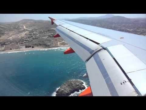 Easyjet Airbus A320 Landing at Heraklion Airport, Crete.