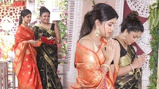 Tanushree Dutta's Diwali Pooja With Sister Ishita Dutta & Talks About Rakhi Swant