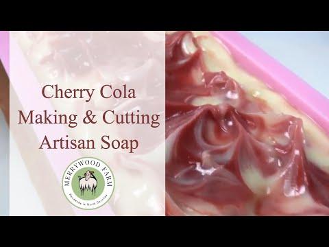 Cherry Cola | Goat's Milk Soap Making | Artisan Crafts | 2018