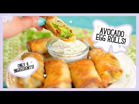 Avocado Egg Rolls! Healthy & Only 6 Ingredients! Cheesecake Factory Copycat Recipe!