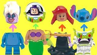Wrong Heads Disney Lego Minifigures Ursula Ariel Buzz Lightyear Stitch | Fizzy Toy Show