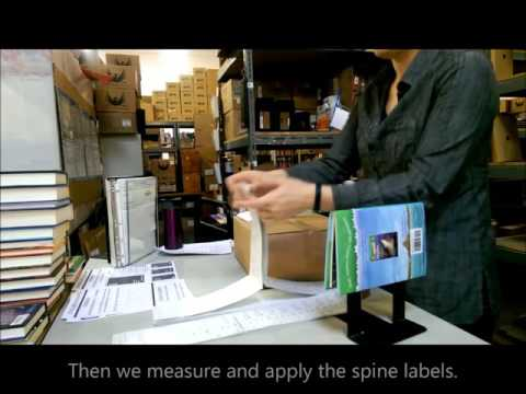 PBC Shelf Ready Processing Barcodes Spine Labels