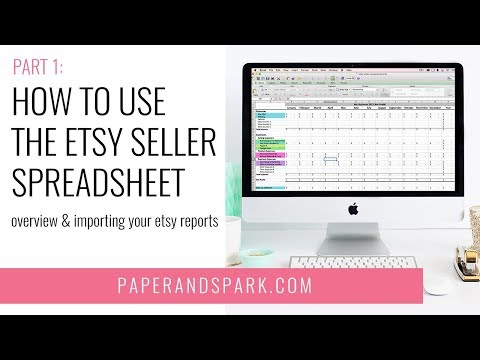 Etsy bookkeeping - How to use your Etsy Seller Spreadsheet pt 1 {UPDATED}