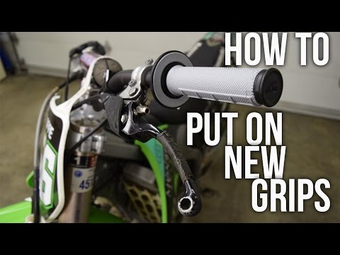 How To Install New Grips On Your Dirtbike EASILY!!