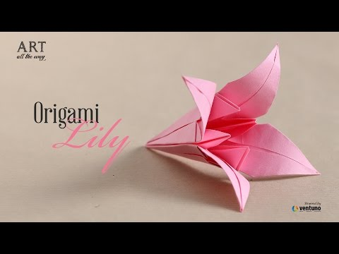 How to Fold DIY : Origami Lily