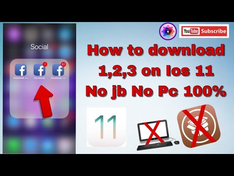 How to download Facebook 1,2,3 On iOS 11 no jb no Pc 100%