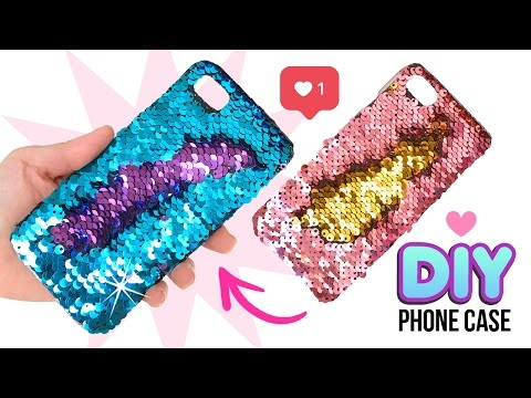 DIY Amazing VIRAL Color-Changing Phone Case!! DIY Mermaid Sequin Phone Case!