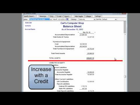 Learn Debits and Credits Using Quickbooks